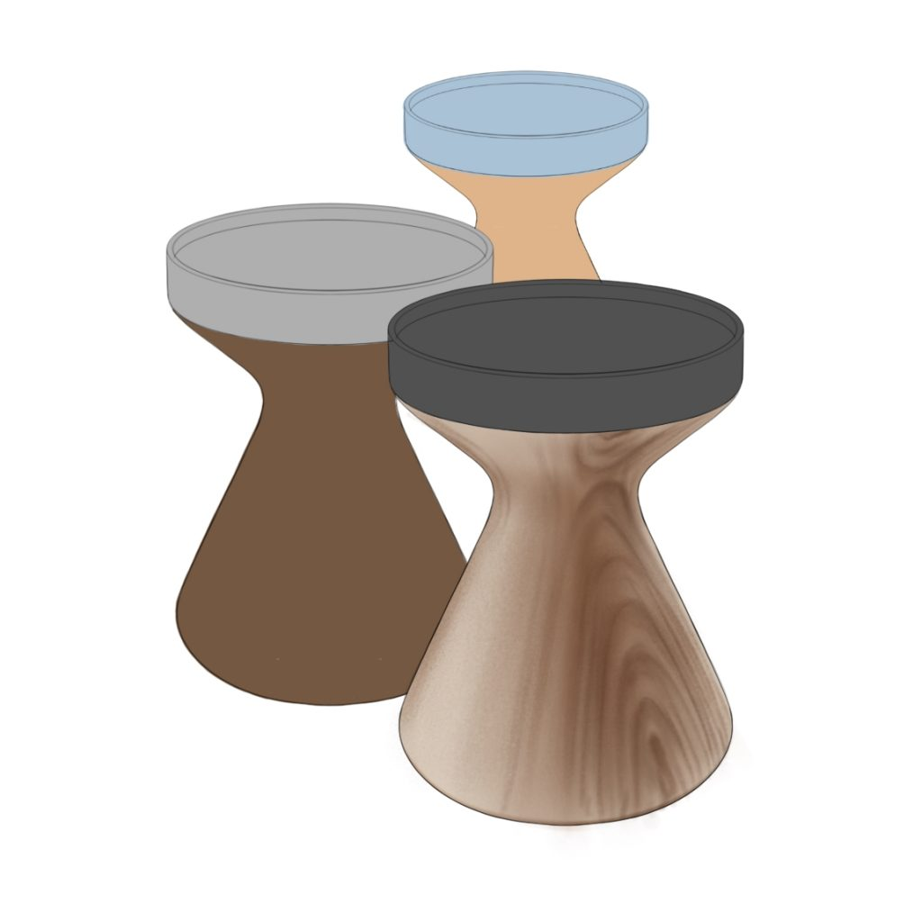 Wooden Stool Sketch 4