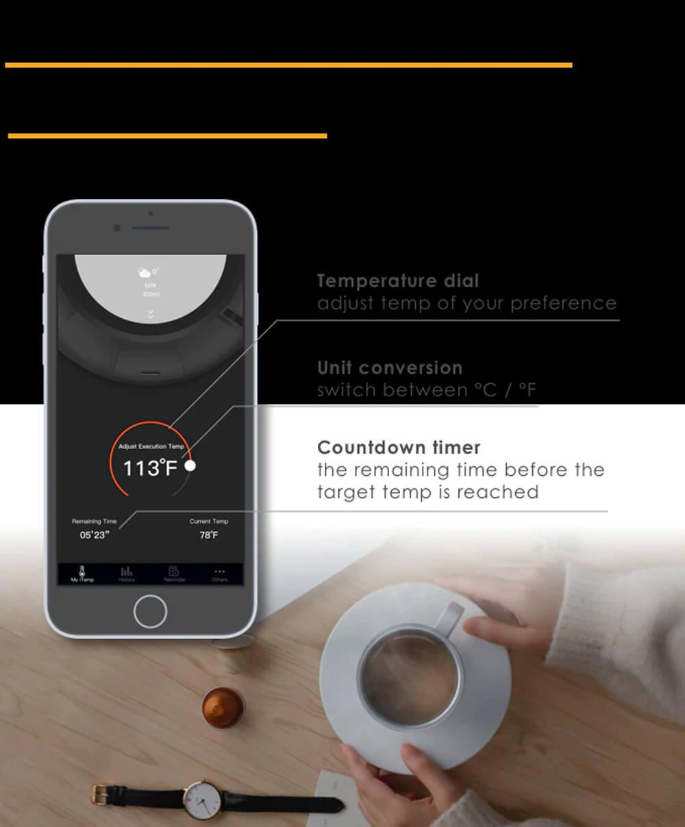 iTemp auto-adjust temperature smart mug