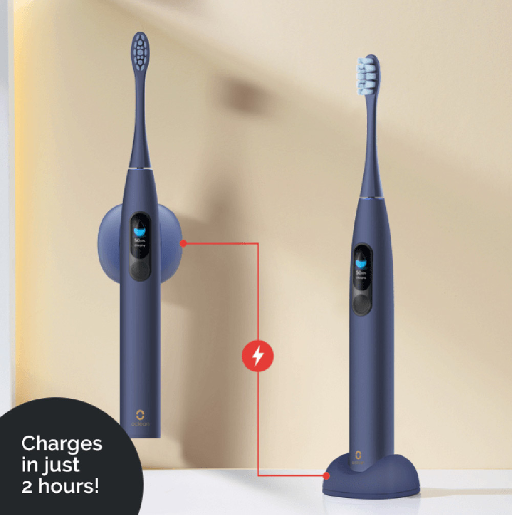 Oclean sonic toothbrush charging data